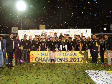 Kerala Kings, the winners of the inaugural T10 League. Image courtesy: Twitter @T10LeagueTweets