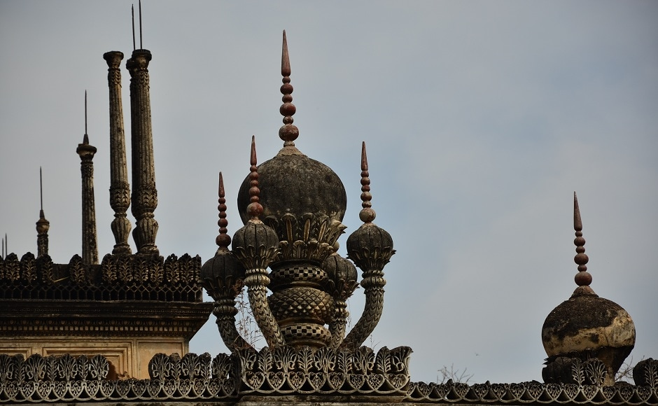 The onion-shaped domes of the Paigah Tombs. Photograph by Upayan Bardhan