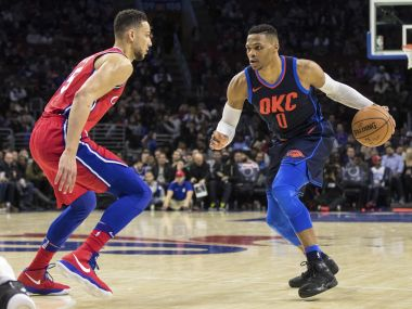 NBA: Russell Westbrook nets triple-double in Thunders thrilling win; Rockets hold off Spurs