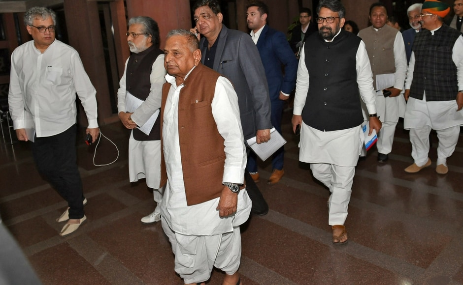 The House adjourned for 20 minutes till noon and again till 2.30 pm, after which it reassembled, with members of the Congress and Samajwadi Party storming the well and raising slogans opposing the disqualification of Yadav and Ali Anwar Ansari. PTI