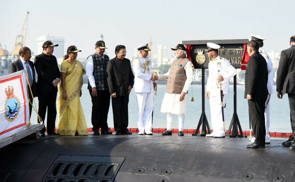 Navy chief Admiral Sunil Lanba, National Security Adviser Ajit Doval, Defence Minister Nirmala Sitharaman and French Ambassador to India Alexandre Ziegler were among those present at the ceremony. PTI