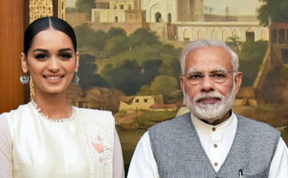 Miss World 2017 Manushi Chhillar meets Narendra Modi, Haryana CM Manohar Lal Khattar