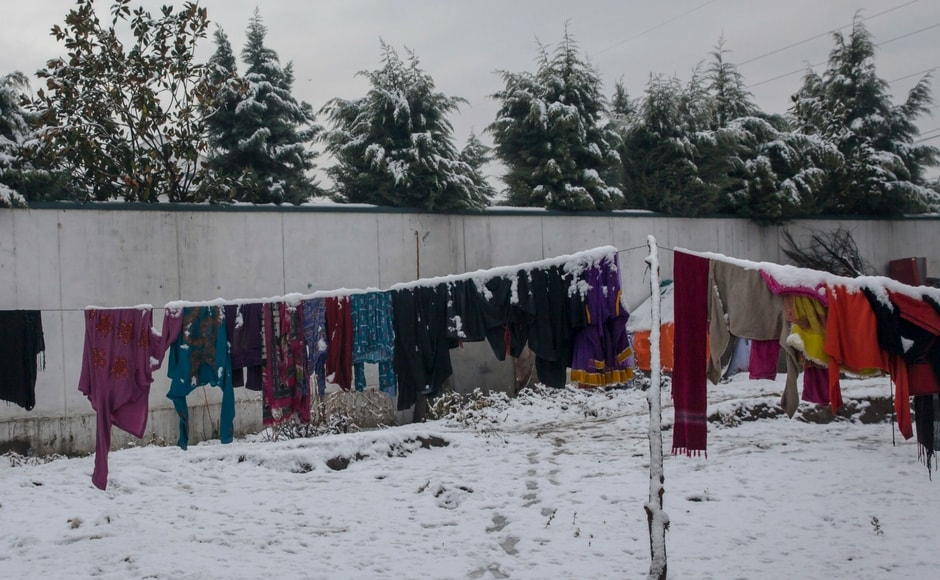 Many places in Jammu and Kashmir have been witnessing fresh snowfall since Wednesday. AP
