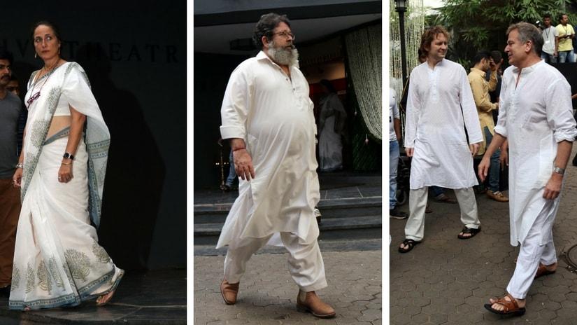 From left: Sanjana Kapoor; Kunal Kapoor and Karan Kapoor. Images via Firstpost/ Sachin Gokhale