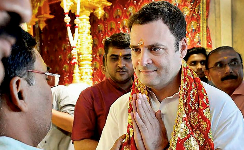 On BJP's criticism of his visits to temple, Rahul asked if it was wrong to visit a temple. The Congress party also said that it was one thing to be