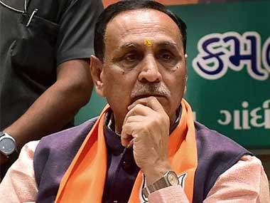 File image of Gujarat chief minister Vijay Rupani. PTI