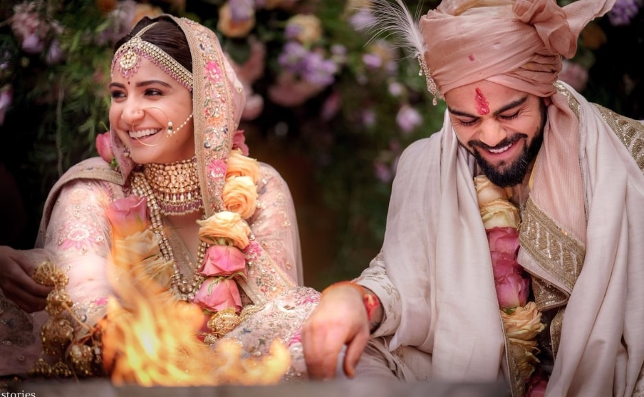 Anushka Sharma and Virat Kohli got married on 11 December in a private wedding ceremony in a resort in Tuscany, Italy. The couple took to their social media profiles to share the news. Image by Lost Stories.