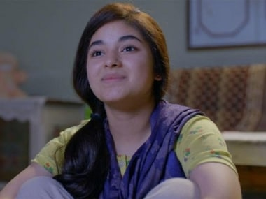 File image of Zaira Wasim. YouTube screengrab