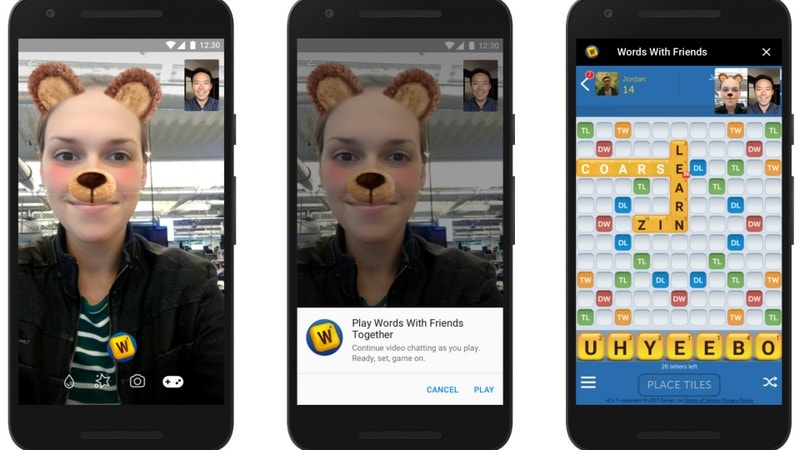 Instant Games on Facebook Messenger allows video chat.
