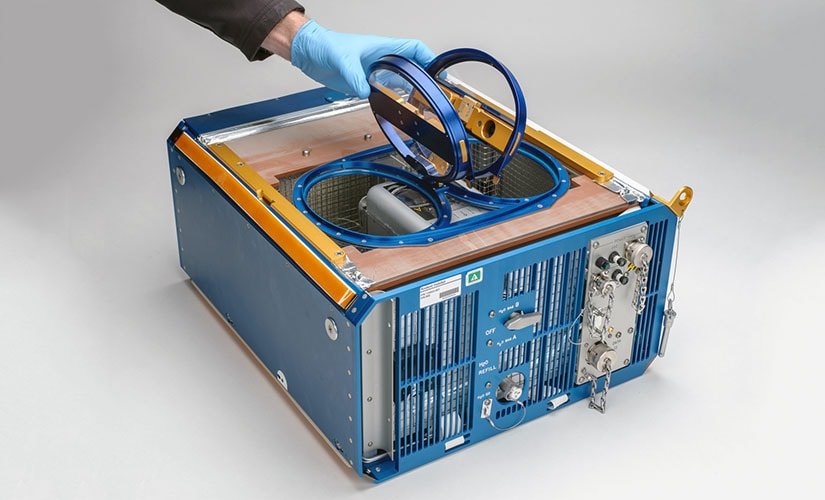 The Rodent Research 6 habitat module. Image: Dominic Hart/ NASA.