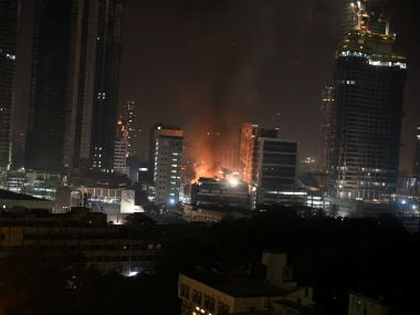 A massive fire engulfed several restaurants in Mumbai's Kamala Mills compound on Friday. Firstpost