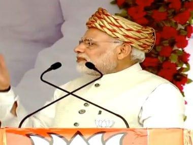Prime Minister Narendra Modi at Surendranagar rally. Twitter @bjp4india