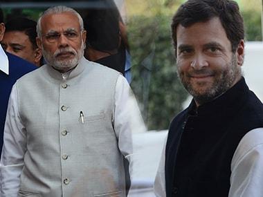 Prime Minister Narendra Modi and Congress president-elect Rahul Gandhi.