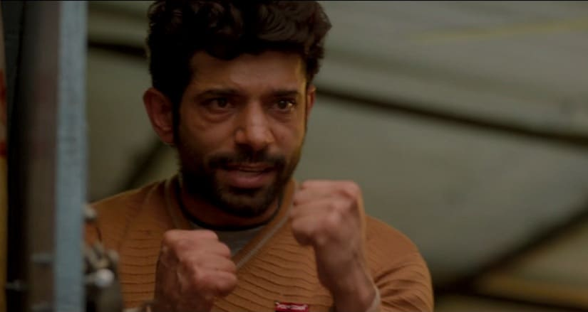 Vineet Kumar Singh in a still from Mukkabaaz. Image from Eros