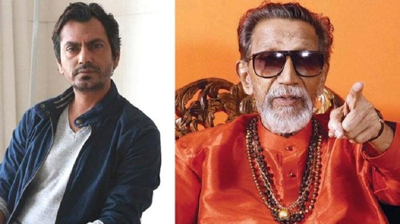 Nawazuddin Siddiqui and Bal Thackeray. Image from Twitter/@BollywoodMDB