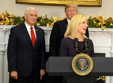 Trump appoints Kirstjen Nielsen new chief of homeland security, Breitbart fumes at choice