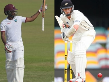 Windies' stand-in skipper Kraigg Brathwaite and New Zealand skipper Kane Williamson. Agencies