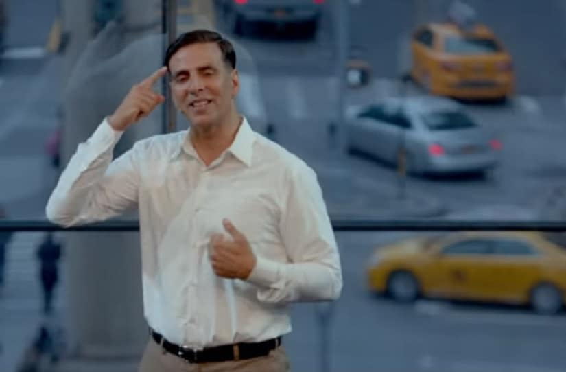 Akshay Kumar in a still from Padman. YouTube