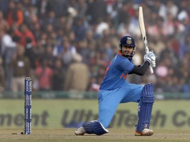 India's Shreyas Iyer bats against Sri Lanka on Wednesday. AP