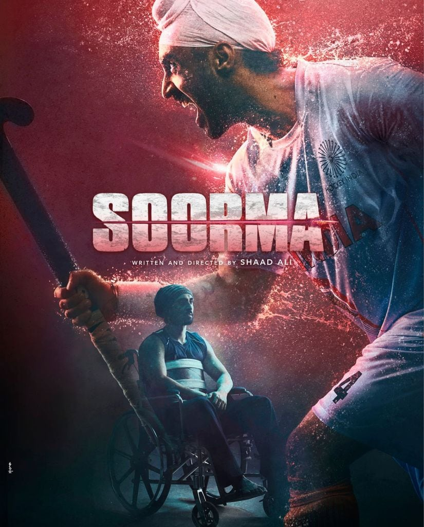 Diljit Dosanjh in the poster of Soorma. Twitter/@diljitdosanjh