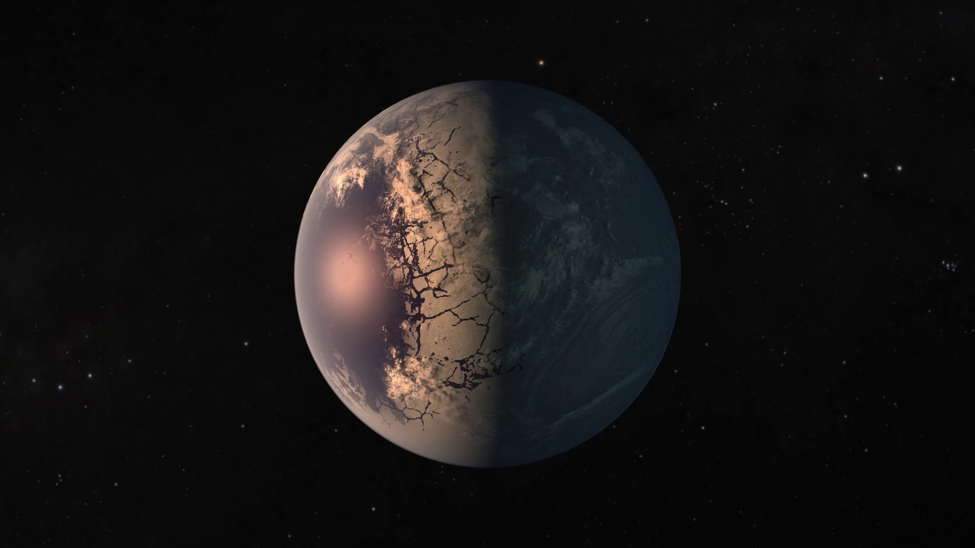 Trappist-1 f, one of the planets in the habitable zone of the star.