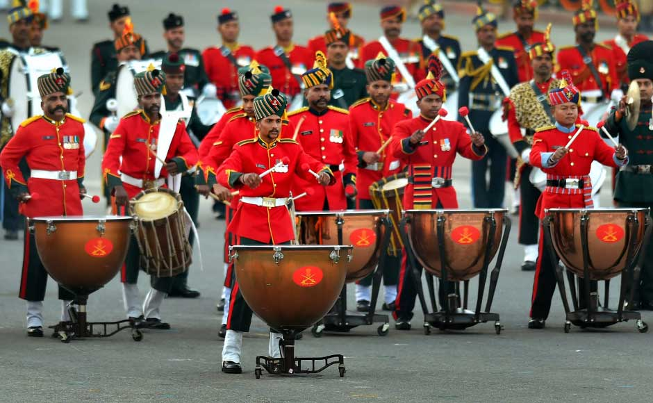 The ceremony this year at Vijay Chowk saw several military bands, pipes and drums bands from regimental centres and battalions enthralling the crowd, with a clear sky and relatively warm weather adding to the cheerful atmosphere. PTI