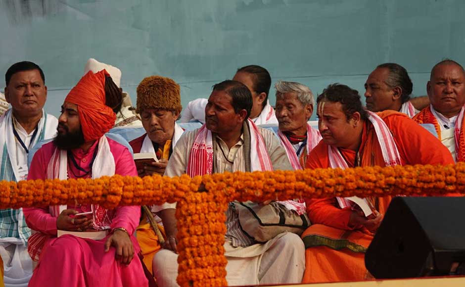 Eminent politicians, heads of village bodies, 20 titular tribal kings — from the Karbi, Naga, Khasi, Hajong, Tiwa, Garo, Jayantiya, Mising and Hajong communities — and more than 10 chiefs of different satras of Assam also attended the rally. Rishiraj Bhagwati