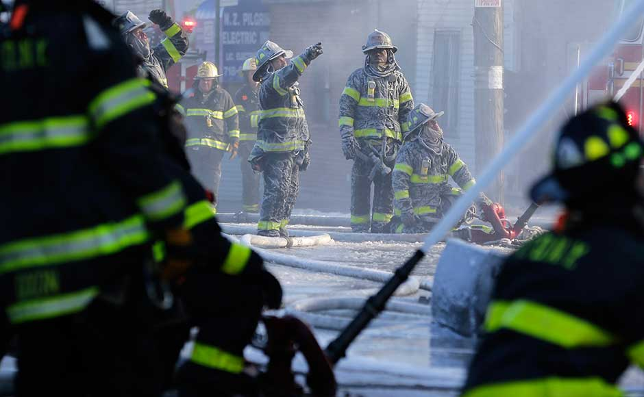 Last Thursday, 12 people, including four children, were killed in the New York City's deadliest blaze in a quarter of a century in another part of the Bronx less than two miles away. That fire was caused by a three-year-old boy playing with the burners of a kitchen stove in one of the apartments, officials said. AP