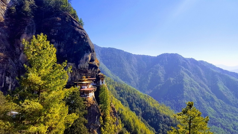 View of Tiger's Nest from a vantage point