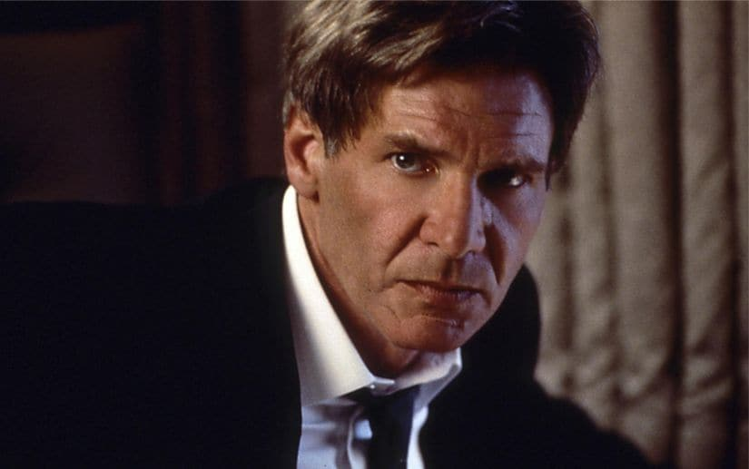 Harrison Ford as President James Marshall in Air Force One