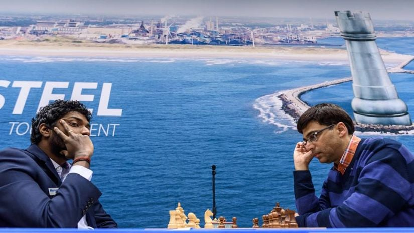 After two consecutive losses, a draw against Anand was a welcome result for Adhiban. Image Courtesy: Alina L'ami