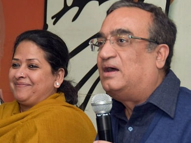 Delhi Congress president Ajay Maken address the press in connection with the disqualification of 20 AAP MLAs. PTI