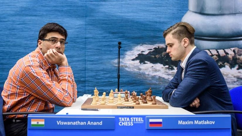 Anand playing against Matlakov. Image Courtesy: Alina L'ami