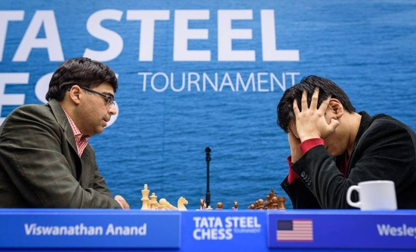 Viswanathan Anand's draw against So means that he is more or less out of contention for the title. Image Courtesy: Alina L'ami