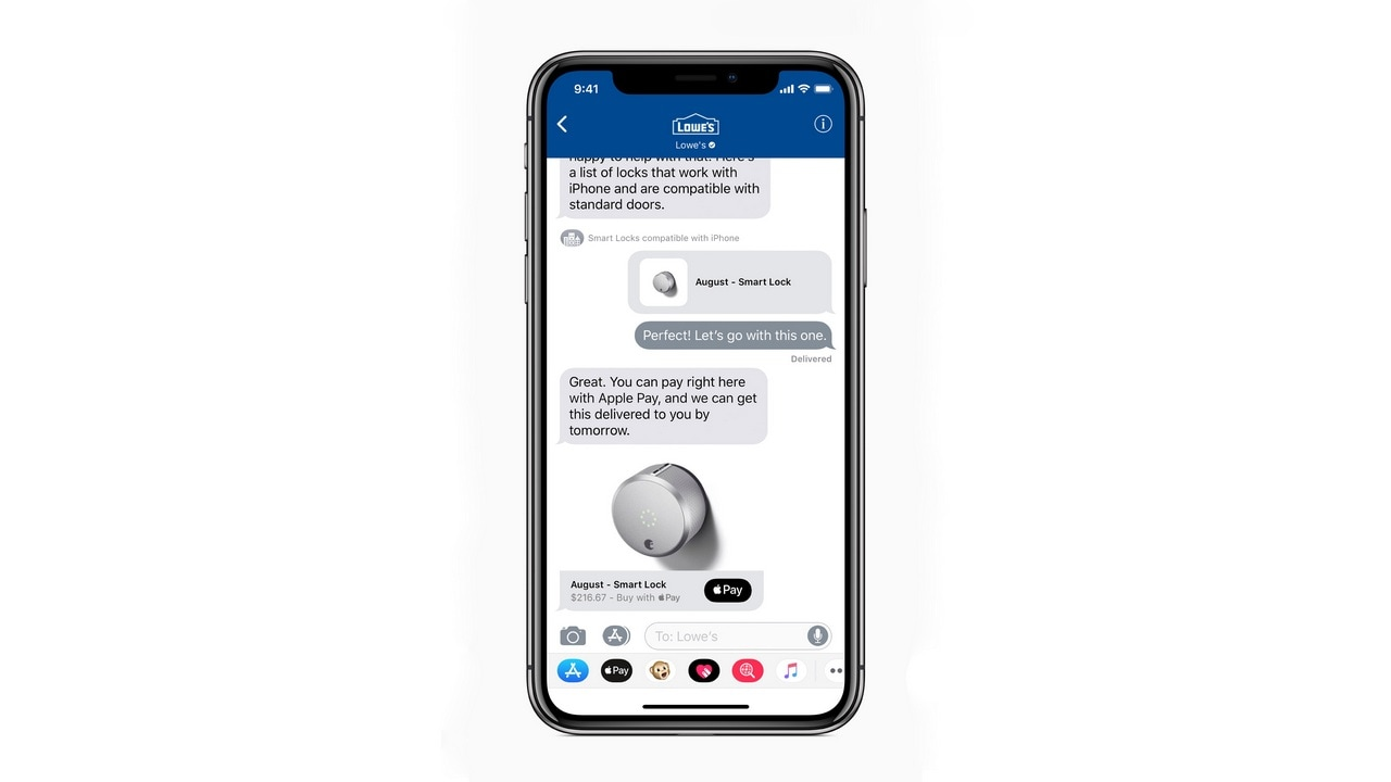 iOS 11.3 also brings Business Chat to Messages. Apple