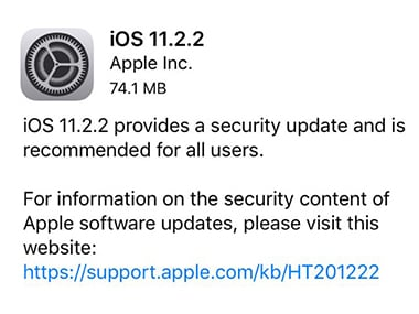 Apple issues iOS 11.2.2, macOS and Safari updates to mitigate the Spectre vulnerability on supported devices