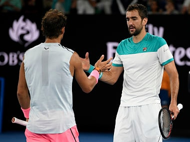 Australian Open 2018: Marin Cilic sets up semis clash with Kyle Edmund after Rafael Nadal retires in quarter-final