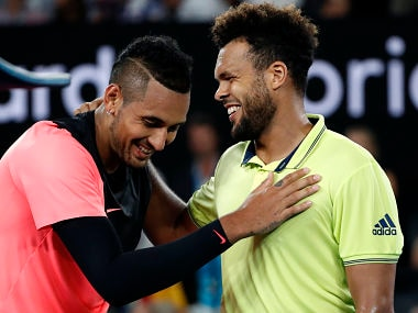 Australian Open 2018: Nick Kyrgios battles past idol Jo-Wilfried Tsonga to set up clash with Grigor Dimitrov