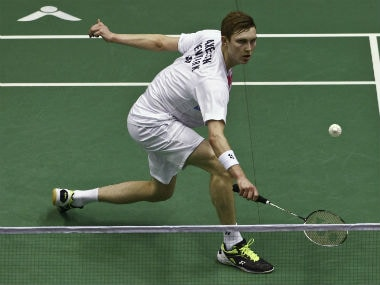 Denmark's Viktor Axelsen in action at the Malaysia Masters. AP