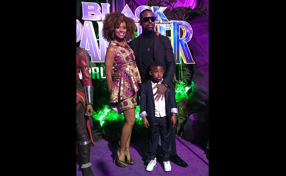 Designer Sterling K Brown also marked his presence along with family at the event. Twitter/@theblackpanther