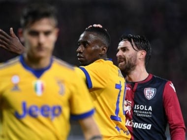 Juventus' Blaise Matuidi was racially targeted by Cagliari fans in the Saturday fixture. Reuters