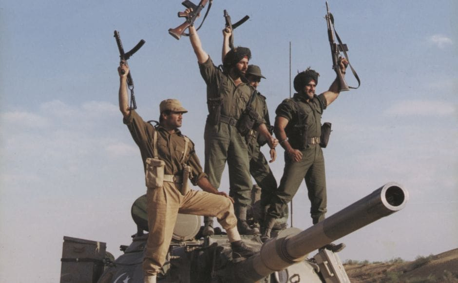 Based on the Indo-Pak war of 1971, JP Dutta's Border (1997) follows the young men who came together to fight the bloody Battle of Longewala. The film boasts a cast filled with many Bollywood stalwarts including Sunny Deol, Jackie Shroff, Suniel Shetty, Akshaye Khanna, Tabu and Rakhi. YouTube screengrab