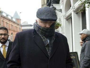 Specialist surgeon Simon Bramhall leaving Birmingham Crown Court in Birmingham. AP