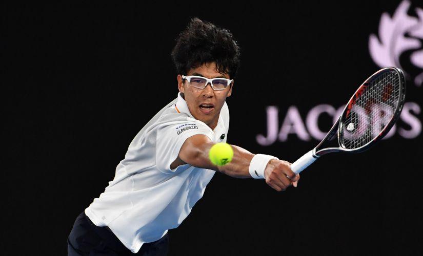 South Korea's Hyeon Chung gave his idol Novak Djokovik a taste of his own medicine on Monday. AFP