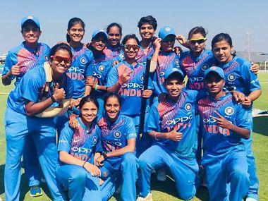 File image of Pooja Vat with India A teammates. Image courtesy: Twitter @Vastrakarp25