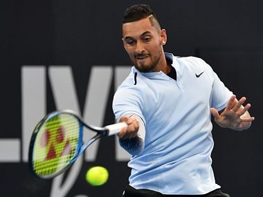 Kyrgios served superbly in the second and third sets, winning over 80 percent of points on his first serve and facing just one break point. Image courtesy: Twitter @BrisbaneTennis