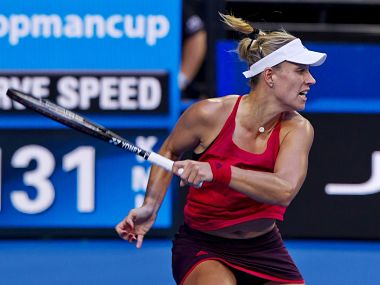 Angelique Kerber's win gave the Germans a perfect start to the Group A tie. Image courtesy: Twitter @hopmancup