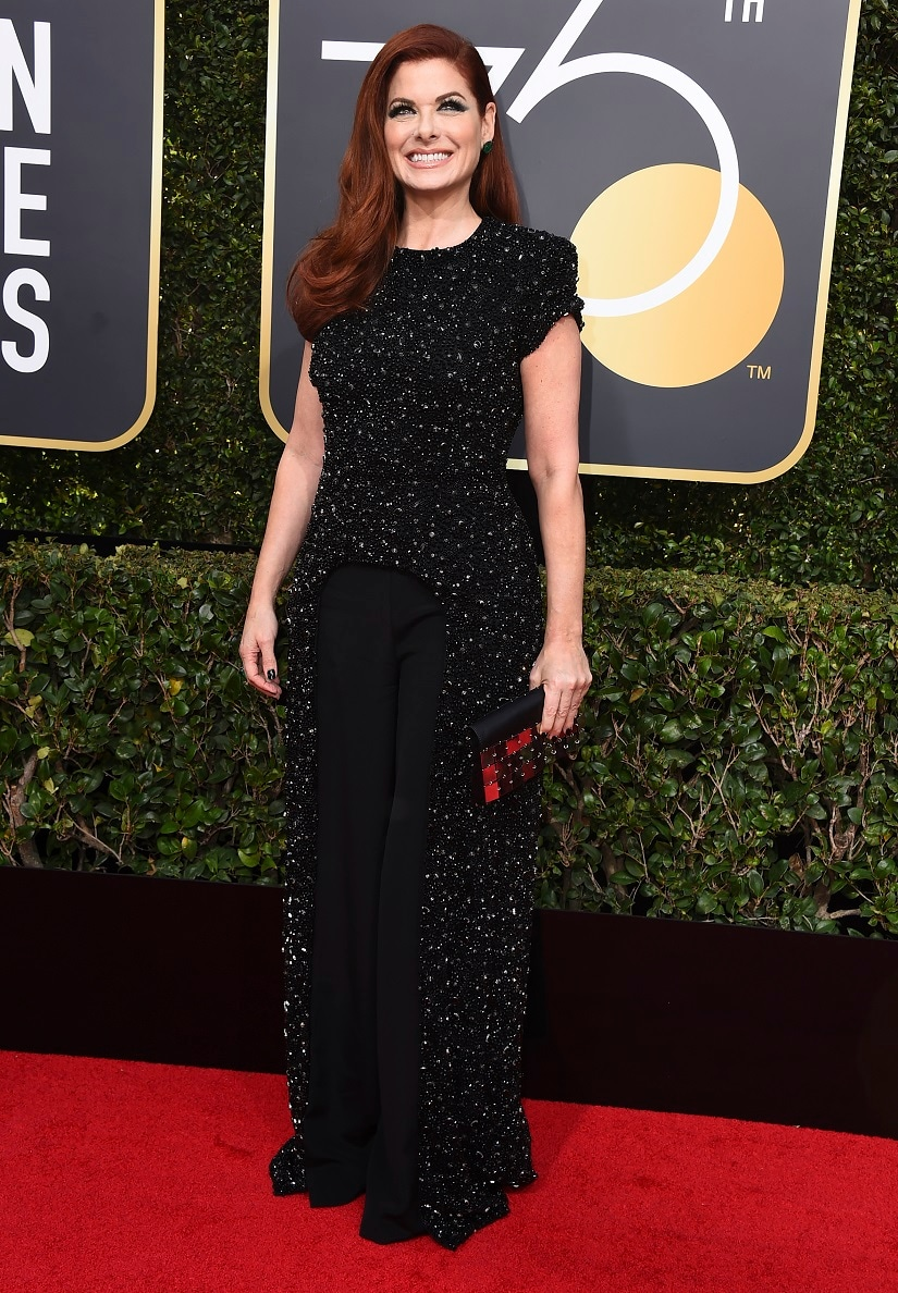 Debra Messing at the 75th Golden Globe Awards. Image from AP.