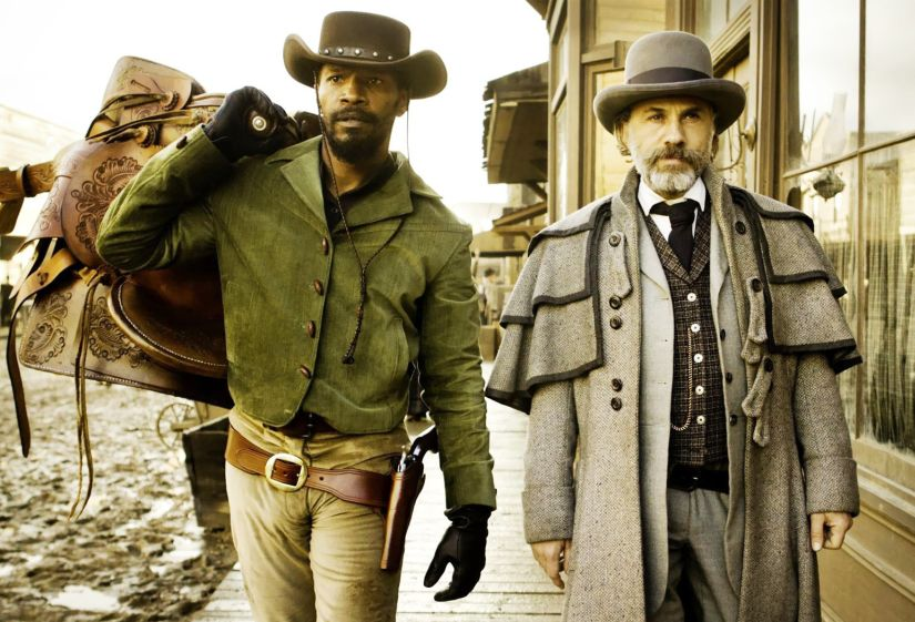 Jamie Foxx and Christoph Waltz in Django Unchained