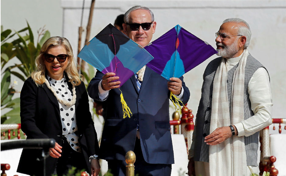 Prime Minister Narendra Modi and his Israeli counterpart Benjamin Netanyahu reached Ahmedabad on Wednesday where they held a roadshow, visited Sabarmati Ashram and inaugurated the iCreate centre. Reuters